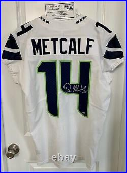 Authentic SIGNED ROOKIE DK Metcalf Seattle Seahawks Nike Jersey GAME TEAM ISSUED
