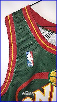 Authentic Seattle Sonics Game Issued #14 Sam Perkins Jersey Size 52 Length +6