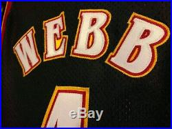 Authentic Spud Webb Hawks Champion Jersey Game Pro Cut Issued Mutombo Augmon