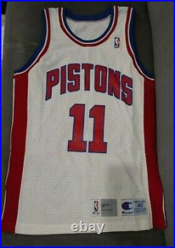 Authentic Vintage Champion Pistons Isiah Thomas Jersey 40 game issued