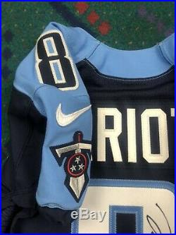 Autographed 2015 Nike Tennessee Titans Marcus Mariota Game Team Issued Jersey