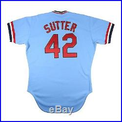 Bruce Sutter 1981 St. Louis Cardinals Rawlings Issued Game Used Worn Jersey Set1