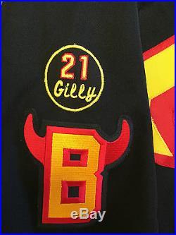 Belleville Bulls 2006 Game Issued Stephen Blunden Reebok 6100 Black Jersey 56