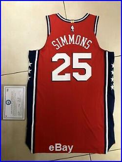 Ben Simmons Nike Philadelphia Game Used Worn Issued Rookie Season Jersey Fanatic