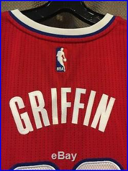 Blake Griffin game worn jersey used/issued and shorts red LA Clippers set 2016