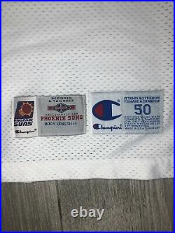 Blank 1995/96 Phoenix Suns Champion Home Game Jersey Team Issued Pro Cut 50 + 4