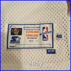 Bob Sura Game Worn Procut Game Issued Starter 1997-98 Cleveland Cavaliers Jersey