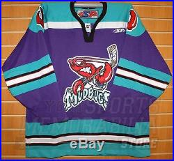 Bossier-Shreveport Mudbugs CHL SP Authentic On Ice Game Issued Purple Jersey 56