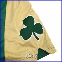 Boston Celtics Adidas Authentic Team Issued St Patricks Day Pro Cut Game Shorts