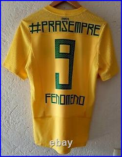 Brazil Nike 2011 Last Game Testimonial Ronaldo Player Issue Soccer Jersey