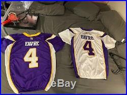 Brett Favre Game Issued Cut NOT WORN Vikings Jerseys Rarest Of The Rare 09 & 10