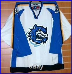 Bridgeport Sound Tigers AHL SP Authentic On Ice Game Issued Hockey Jersey 56