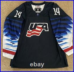 Brock Faber Game Issued USA 2020 U18 World Junior Championships Hockey Jersey