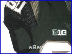 Byron Bullough Game Issued Signed Alternate Michigan State Spartans Nike Jersey