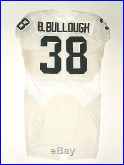 Byron Bullough Game Issued Signed White Michigan State Spartans Nike Jersey