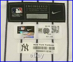 CHAPMAN size 46 #54 2020 New York YANKEES game jersey issued home HGS MLB