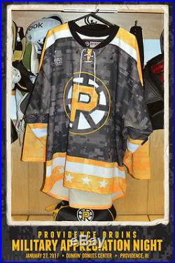Colton Hargrove Providence Bruins Game Issued Commemorative Military Jersey