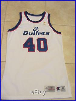Calbert Cheaney Washington Bullets Game Worn Used Issued 50th Jersey