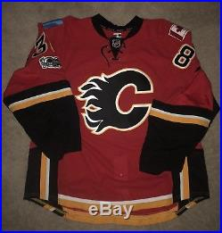 Calgary Flames Matt Frattin Game Issued 2016-17 Jersey 56 Home Red