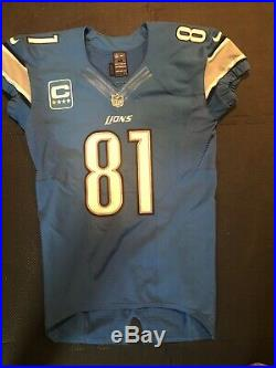 Calvin Johnson Game Used Worn Issued Jersey Detroit Lions Mears LOA
