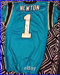 Cam Newton Panthers signed autographed game issued jersey NFL Auction PSA/DNA