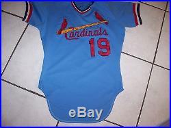 Cardinals Game Issued/Worn Jersey Powder Blue No. 19 (Dane Iorg)