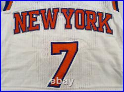 Carmelo Anthony Game Issued Pro Cut Autographed Knicks Jersey Vs Pistons 2015