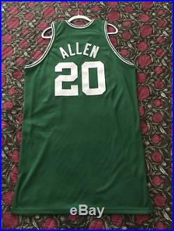 Celtics Ray Allen Game Issued 2007-08 Hardwood Classics HWC Pro Cut Jersey NBA