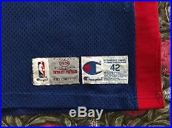 Champion 1993 Blank Detroit Pistons Team Issued Pro Cut Game Jersey Isiah Thomas