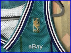 Champion 1996-97 Blank Charlotte Hornets Team Issued Pro Cut Game Jersey Gold 50