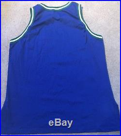 Champion Blank 95 96 Dallas MavericksTeam Issued Pro Cut Game Jersey Size 48