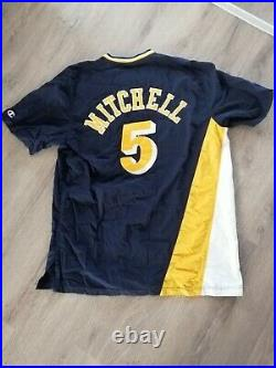 Champion Nba authentic team issued game worn Indiana Pacers Jersey Warm Up