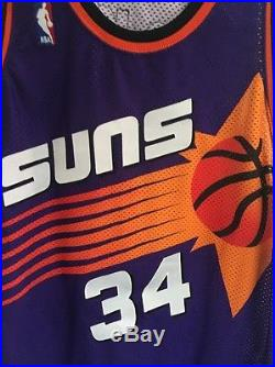 Charles Barkley Game Issued Signed Champion Pro cut Jersey Rare! 52 + 3