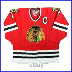 Chris Chelios 1997-98 Chicago Blackhawks Nike Game Issued Home Red Nike Jersey