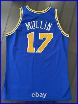 Chris Mullin warriors game jersey gold logo 96-97 champion issued used worn