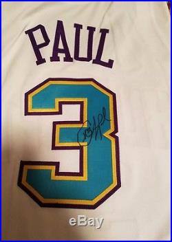 Chris Paul Signed Game Issued Pro Cut Rookie Jersey Special OKC Jersey