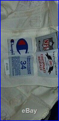 Cincinnati Bengals Game Used Worn Pants NFL 1993 player issue size 34 Champion