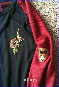 Cleveland Cavaliers Game Used Worn Issued 2018 NBA Finals Shooting Shirt Jersey
