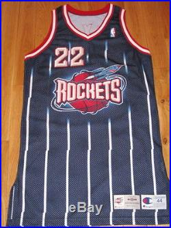 ca9ca1b67ddd Clyde Drexler Houston Rockets NBA Champion Pro Cut Game Issued Jersey  Authenic