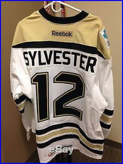 Cody Sylvester Wilkes-Barre/Scranton Penguins 2013-14 Game-Issued Home Jersey