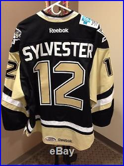 Cody Sylvester Wilkes-Barre/Scranton Penguins 2013-14 Game-Issued Road Jersey