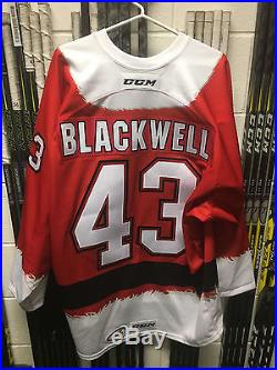 Colin Blackwell Game Issued San Jose Barracuda Santa Specialty Jersey