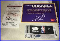 D'Angelo Russell Signed Game-Issued 12/25/15 Lakers Rookie Jersey (Russell/JSA)