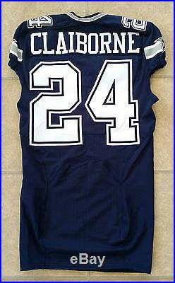 Dallas Cowboys 2014 Nike NFL #24 Morris Claiborne Game Issued Team Player Jersey