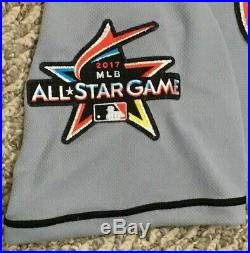 DEE GORDON size 40 #9 2017 Miami Marlins Game Jersey issued road gray 3 PATCHES