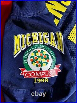 DREW HENSON Game Issued Non used Jersey 1999 CITRUS BOWL Michigan Wolverines
