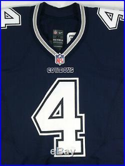 Dak Prescott 2016 Game Issue Dallas Cowboys Prova NFL Road Jersey