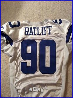 Dallas Cowboy Team Issued Game Worn 2009 White Jersey of Jay Ratliff ALL-PRO