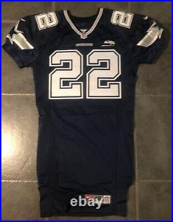 Dallas Cowboys Emmitt Smith 2000 game issued Nike jersey with Tom Landry patch