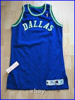 Dallas Mavericks blank pro cut team game issued authentic jersey 46+6 champion